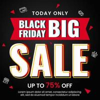 Black friday sale shopping banner template vector