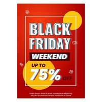 Gradient black friday flyer template vector