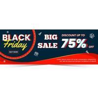 Modern black friday sale banner template vector