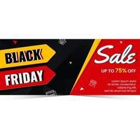 Black friday banner sale design concept vector