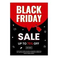 Black friday poster design for your business vector