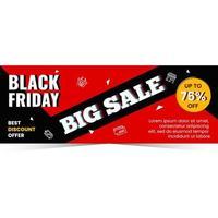 Modern black friday sale banner season vector