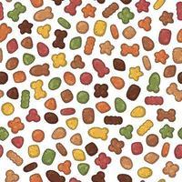 patrón de alimento seco para mascotas vector
