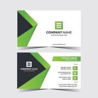 Creative business card template design vector