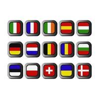 conjunto de banderas europeas vector