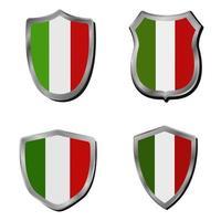 conjunto de bandera de italia vector
