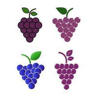 Set Of Grapes vector