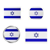 conjunto de bandera de israel vector