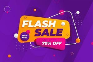 Flash sale discount banner promotion background vector