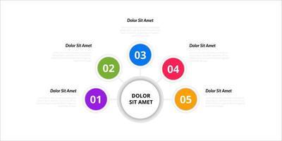 Vector infographic design elements. Option number workflow infographic design