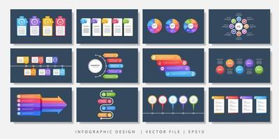 elementos de diseño de infografía vectorial. diseño infográfico moderno vector