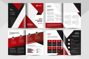 Red corporate business brochure template. Corporate business flyer template. vector