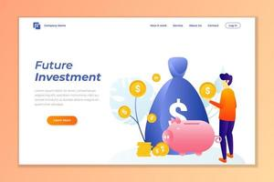 money investment web banner background vector template.