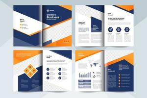 Creative business brochure layout template. Corporate business booklet design vector