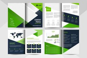 8 page corporate business brochure template. Corporate business flyer template. vector