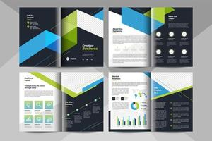 Creative business brochure template. Corporate business booklet template.