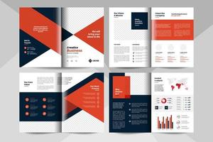 Creative business brochure template. Corporate business booklet template. vector