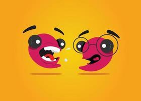 Funny Comma Character like a tadpole
