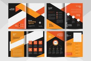 Multipurpose brochure layout template. Corporate business booklet template. vector