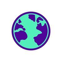 Earth Two Tones Science Icon Symbol vector