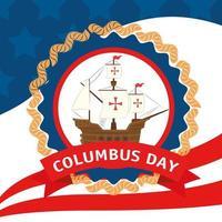 Happy Columbus day celebration banner vector