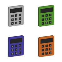 Calculator Set On White Background vector