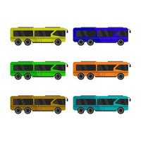 Set Of City Bus On White Background vector