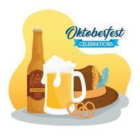 Oktoberfest celebration banner vector