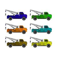 Set Of Tow Truck On White Background
