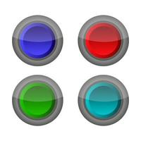 Set Of Web Button On White Background vector