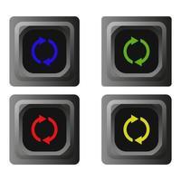 botón de recarga en fondo blanco vector