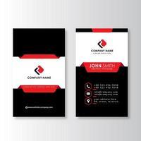 Vertical modern professional business card vector