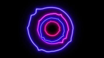 animação abstrata em loop sem costura de néon