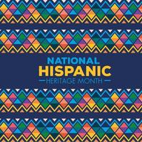National hispanic heritage month banner vector