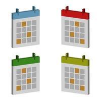 Calendar Set On White Background vector
