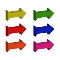 Isometric Arrow Set vector