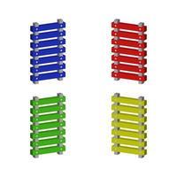 Isometric Ladder Set vector