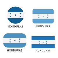 conjunto de banderas de honduras sobre fondo blanco vector