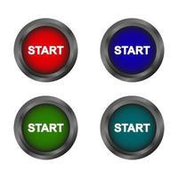 Start Button Set vector