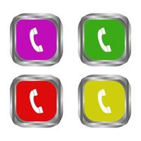 Set Of Telephone Handset On White Background vector