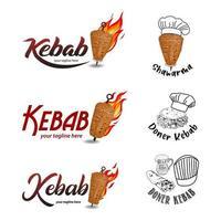 cocina shawarma e ingredientes para kebab.