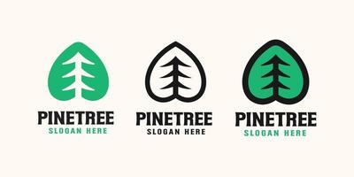 Pine Tree Logo Template Design, Vector Illustration