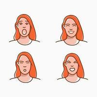 vector illustration of woman's mood