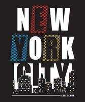Ilustración de vector gráfico de diseño de camiseta de la ciudad de Nueva York