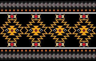 Abstract orange and red geometric native pattern seamless vector. Repeating geometric vector