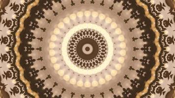 sfondo astratto caleidoscopio marrone con ornamento vintage