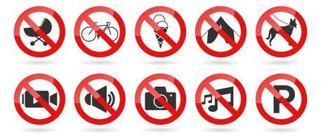conjunto de vector de señal prohibida