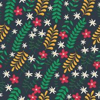 Hand painted exotic floral seamless pattern vector