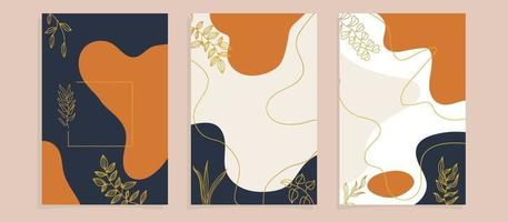 Abstract tropical leaves poster covers
