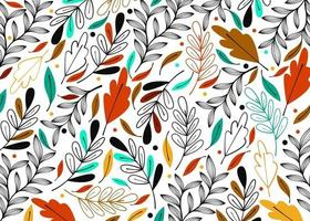 Modern leaf colorful pattern background vector